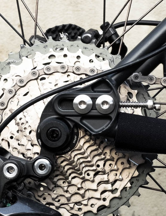 The sliding dropouts give singlespeed options for the future