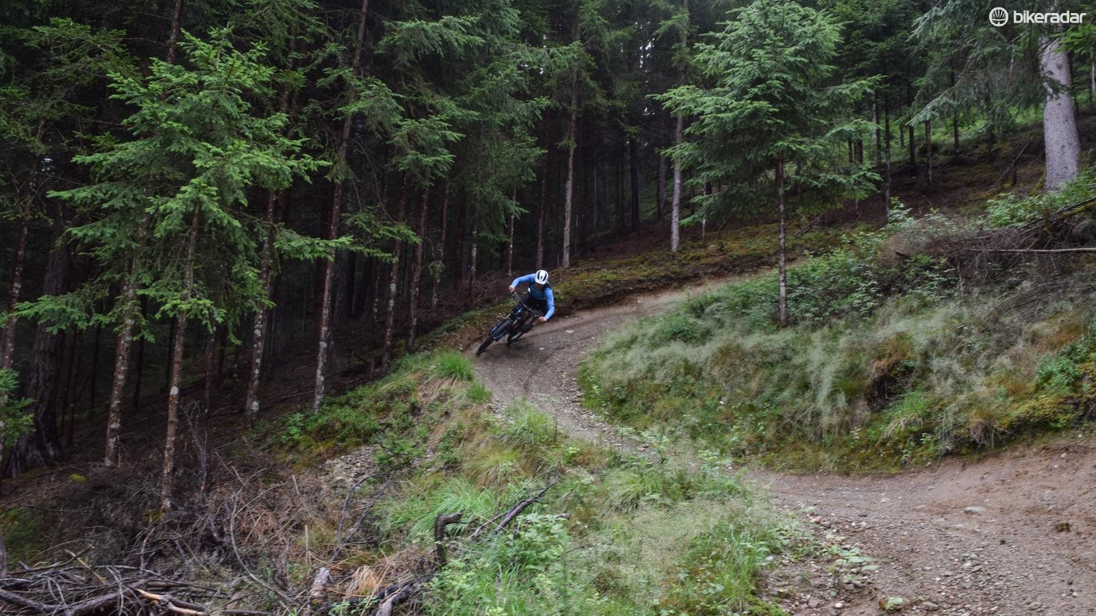 Plenty of support from the back end means no sinking feeling as you rail berms