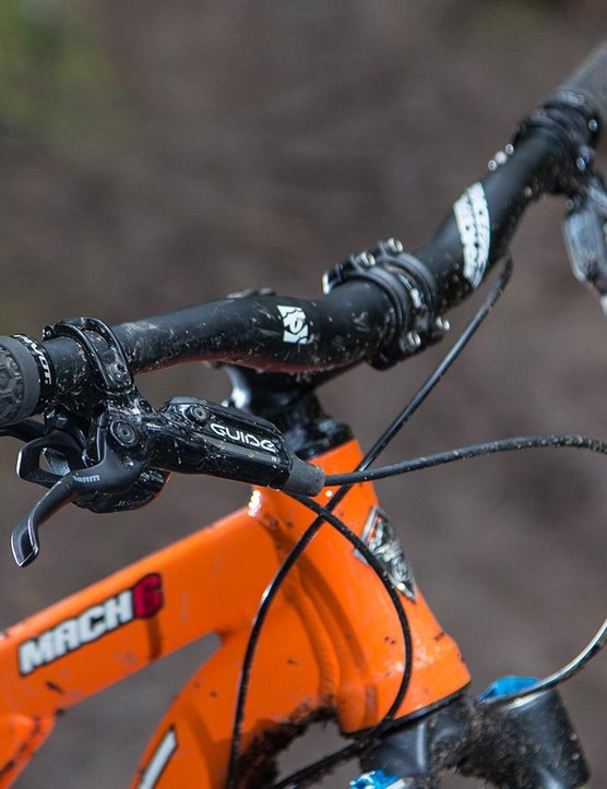 The 740mm handlebar is a Race Face Ride