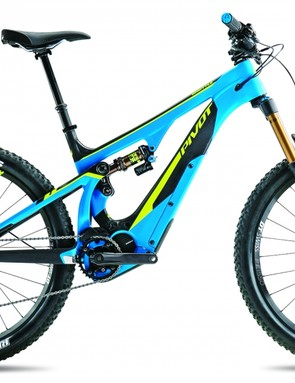 The Shuttle features 27.5+ wheels and tires with 140mm of rear suspension mated to a 150mm fork