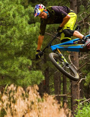 While most eMTB riders won't be able to ride like Aaron Chase, a focus on keeping the Shuttle light should make it more agile