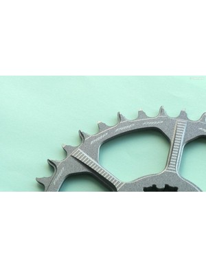 PMP has just released a range of narrow-wide chainrings coated in a funky non-stick Teflon-like coating