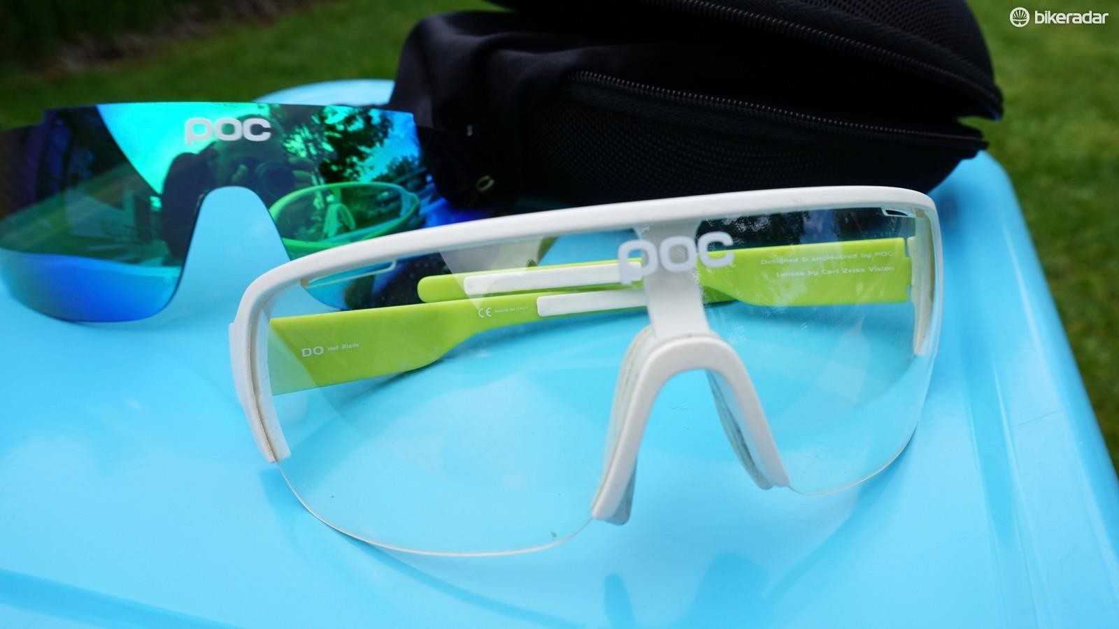 Both lenses have Ripel and anti-fog treatments, which help keep your field of vision clear