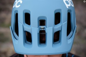 An anodized screw holds the visor in the preferred position