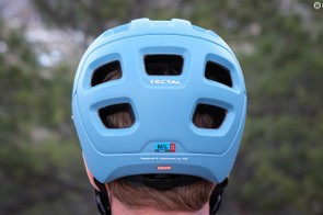 Five vents at the rear of the helmet allow air to move through the Tectal