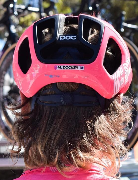 Name labels will identify each team member's helmet