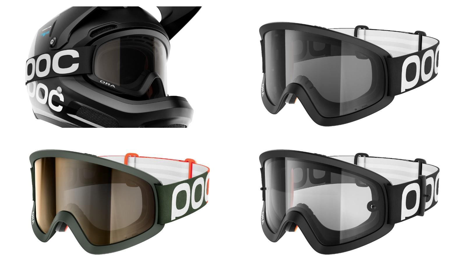 Say no to gaper's gap. POC's Ora goggles are claimed to fit perfectly with the Coron Air full face helmet