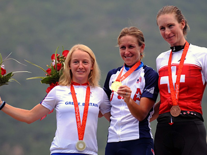 Pooley (L) stands proud with Armstrong (C) and Thurig (R)