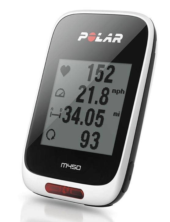The Polar M450 GPS cycling computer is a good tool for heart-rate training, but pales a bit compared to a Garmin Edge