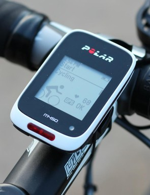 The Polar M450 comes with a mount for your stem or handlebar