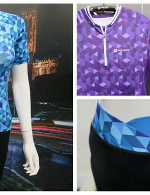Polaris has opted for a geometric print in a range of colourways, and shorts to match