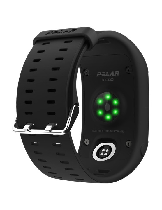 The M600 gets a built-in six-LED heart rate sensor