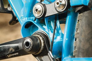 The twin-link suspension set-up delivers a bike that pedals surprisingly well