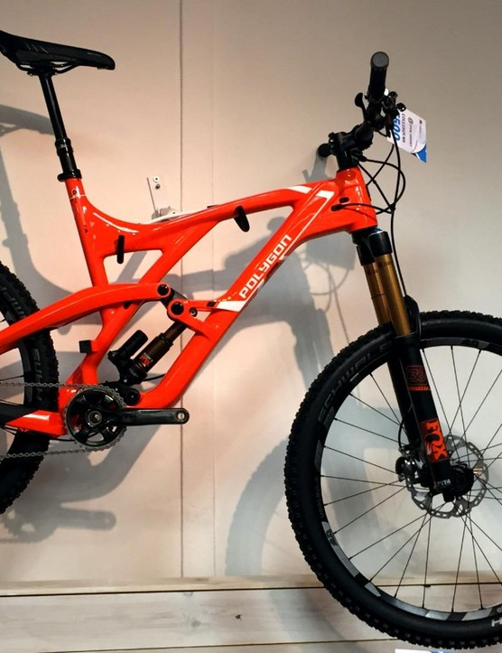 Polygon is another new brand for Moore Large, and the new Collosus N9 all-mountain bike has already been attracting attention