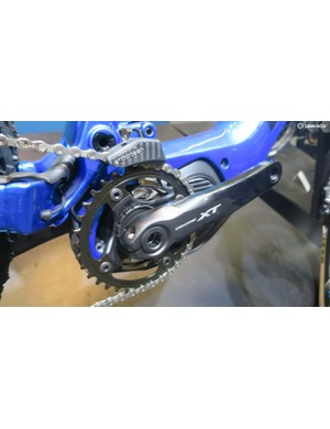 Shimano provides the power assistance and XT drivetrain