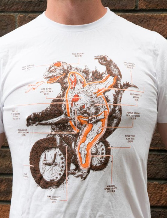 Stolen Goat's Chomp T-shirt depicts a particularly aggressive fat-biker