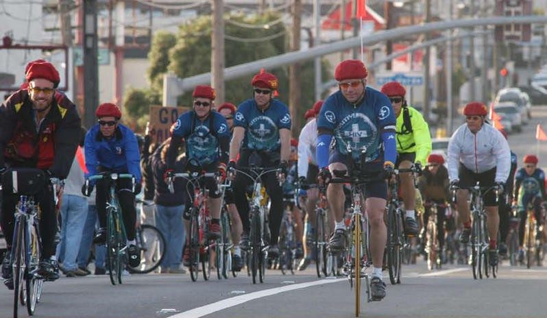 Cyclists are asked to wear red for a 24-hour ride to mark World Aids Day