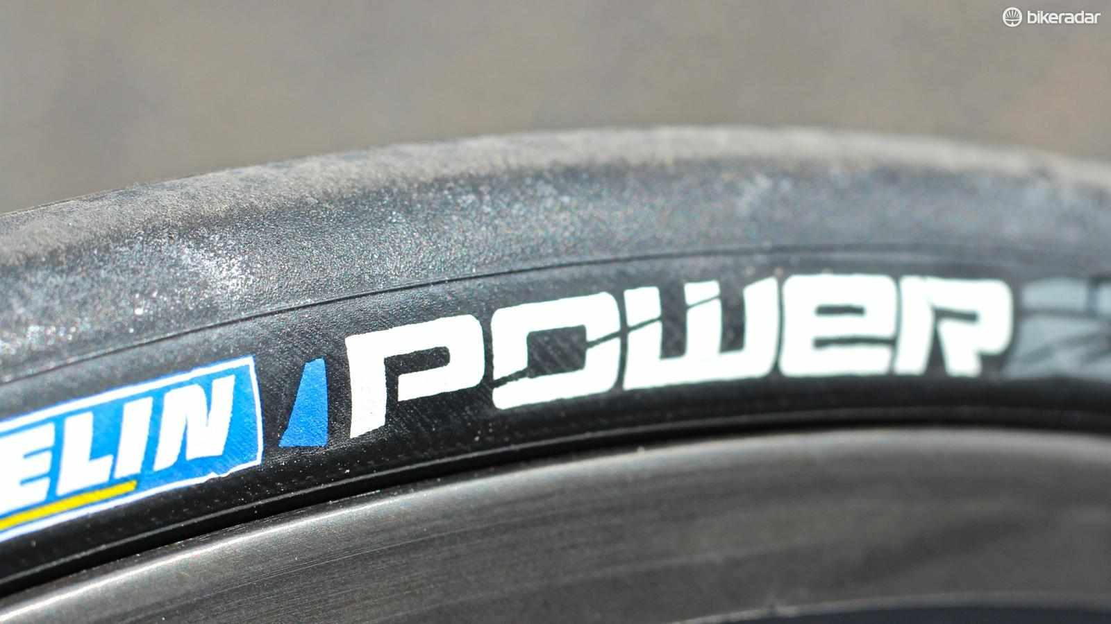 Michelin's Power Competition clincher features a new Power Race compound