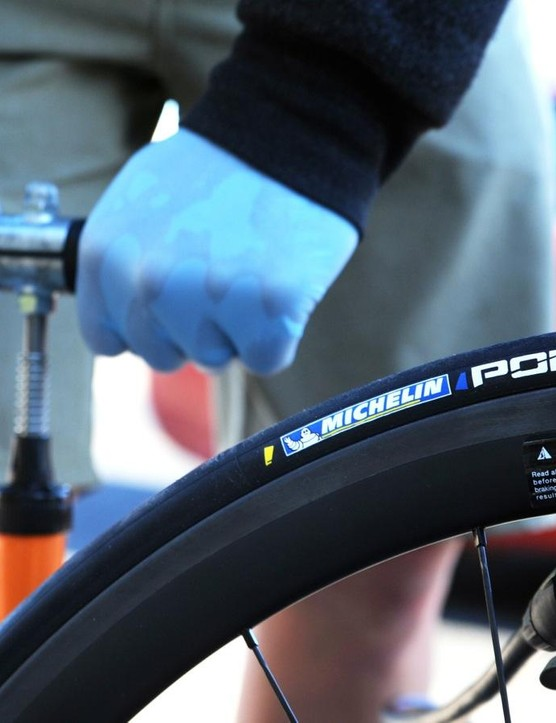 Air pressure is a huge variable in how a tire feels and performs. At BikeRadar we always keep a close eye on it and try to standardize pressure whenever possible