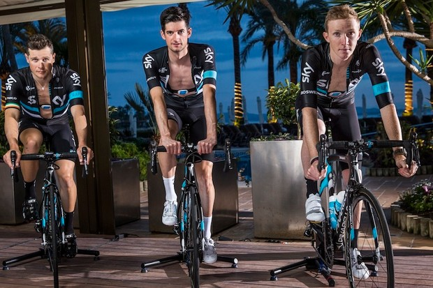 Team Sky trains with both heart rate (using Wahoo TICKR for 2016) and power (using Stages and Wahoo KICKR)