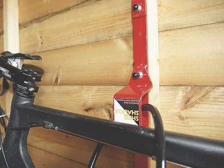 The Shed Shackle fits into any piece of upright timber.