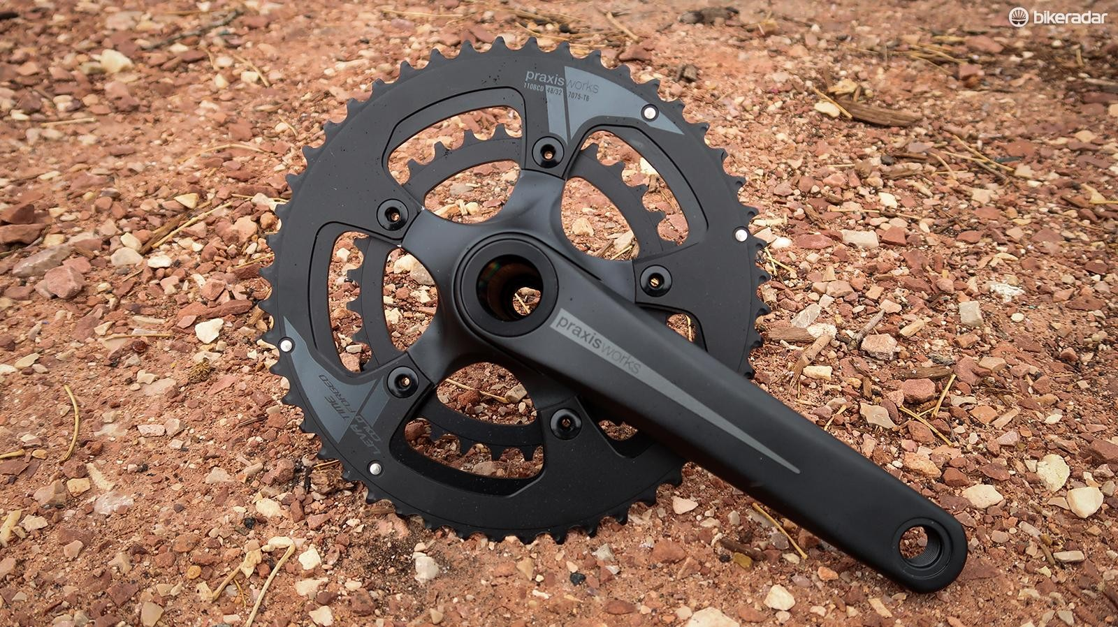 Need to get low on your gravel or touring bike? These Praxis 48/32t chainrings are an option
