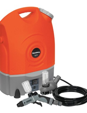 Get your bike cleaner faster with a pressure washer like this one from Sealey