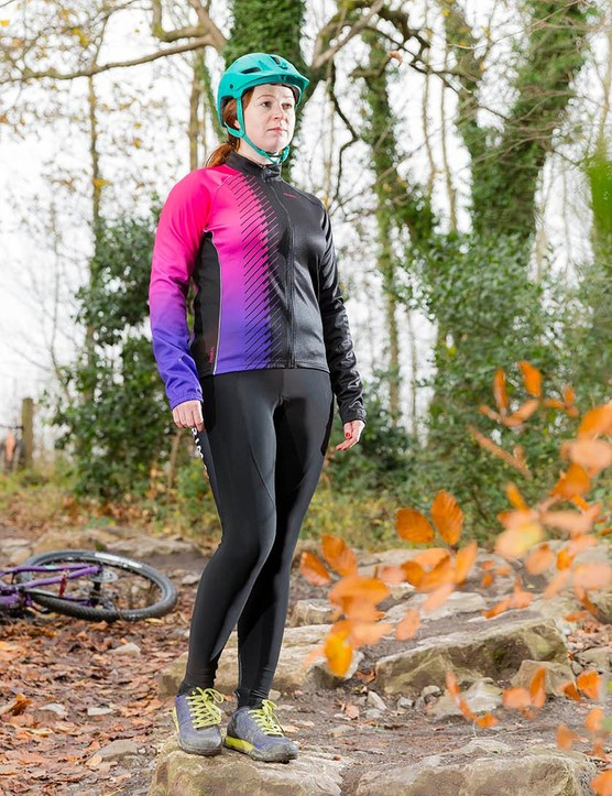 The bright ombre shading on the sleeves of the Lumina 2nd Layer Jacket from Primal is certainly eye-catching
