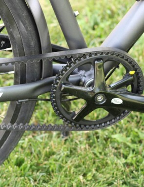 A Gates belt drive is a great solution for city bikes: no grease, no rust, no problem
