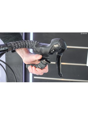 The lever can be operated from the drops with your thumb