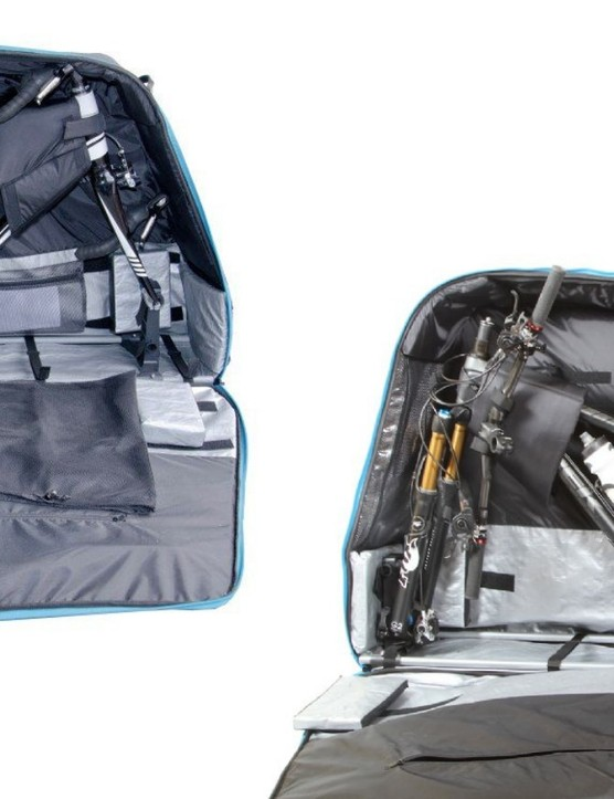 It has an inner foam lining and foam blocks to keep your bike safe