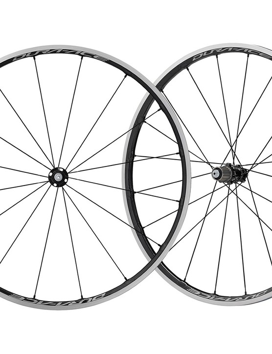 The Shimno R9100 wheelsets are often seen in the pro peloton