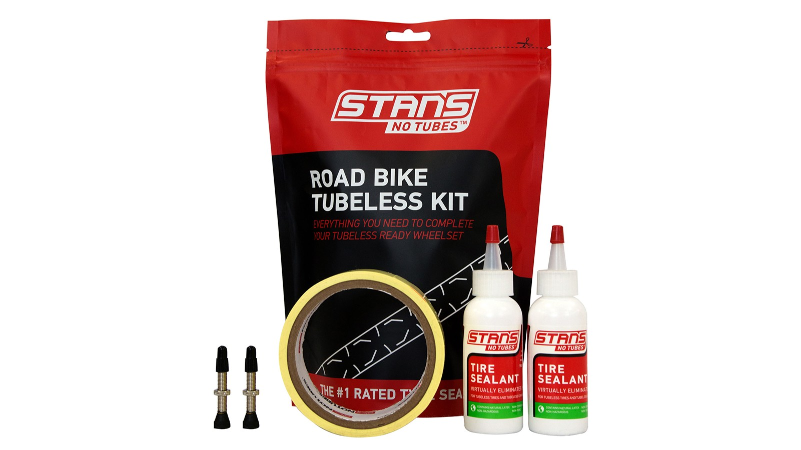 Upgrade to tubeless with the Stan's road conversion kit