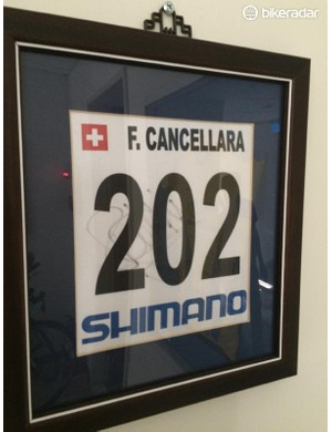 And Cancellara's race number