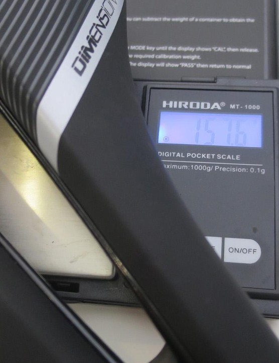 We weighed the carbon railed version at a svelte 157.6g