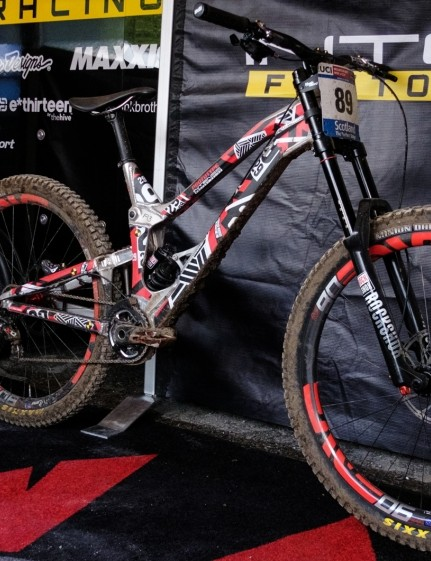 The prototype 29er looks resplendent in its decal-ed livery