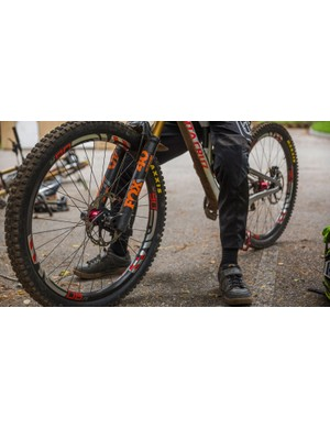 A collaborative effort from Fox, Chris King, ENVE and Maxxis meant the V10 could go from test mule to race-ready carbon chassis in just a couple of months