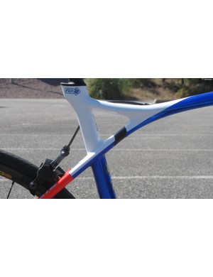 Lapierre's Pulsium also features an elastomer at the back to absorb bumps from the road