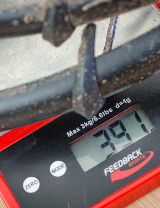 Then again, who could possibly get bored weighing the dirt stuck to bike accessories?
