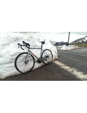 In Wales, when the snow gets lower than your bike, that's how you know it's summer