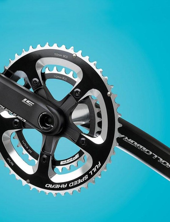 Compact (34/50t) chainsets are falling out of favour. Which explains why this one is just floating in space without a bike