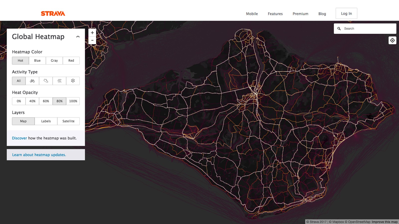 Having revealed secret US bases abroad, Strava's 'heatmap' unearthed evidence of rudimentary roads on the Isle of Wight. Sensational