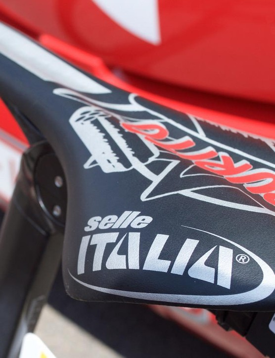 The saddle, from Selle Italia, is certainly unique