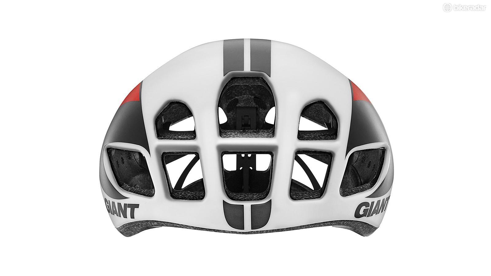 Giant's new Pursuit road helmet has huge intake vents up front