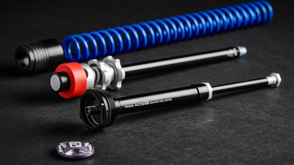 Push has developed a kit to turn your Fox or RockShox fork into a coil fork