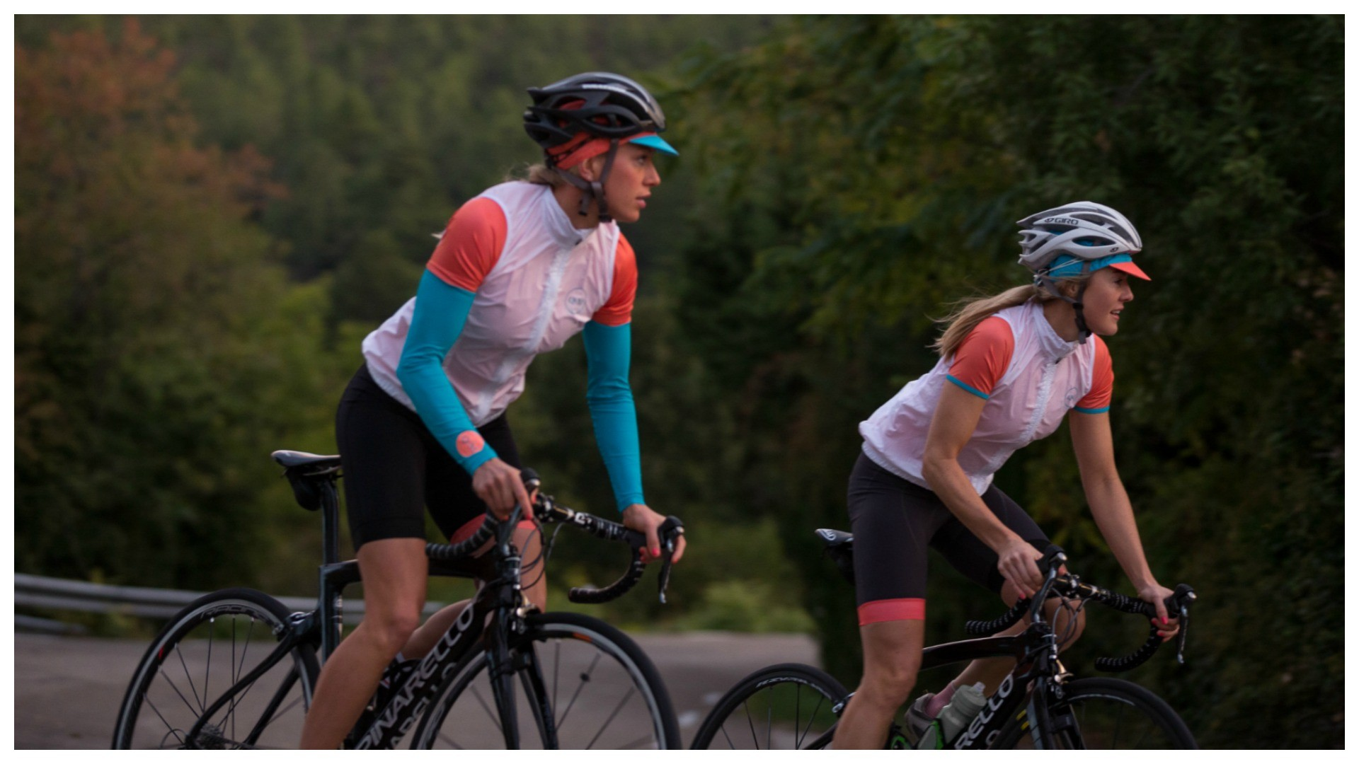 Queen of the Mountains not only produces women's road cycling kit, but also run frequent rides