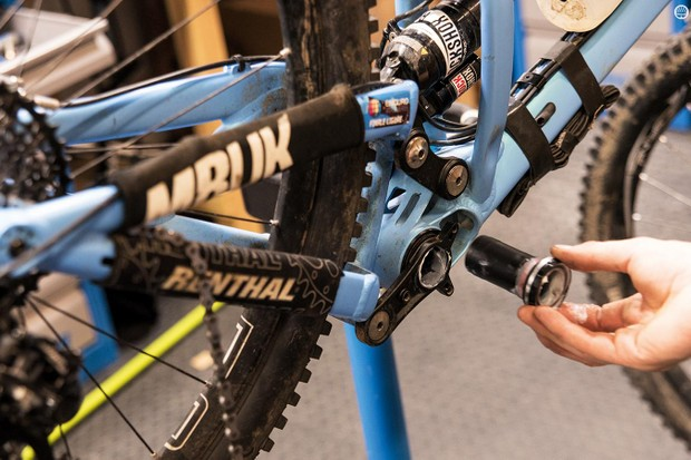 Here we're fitting a BSA-threaded bottom bracket