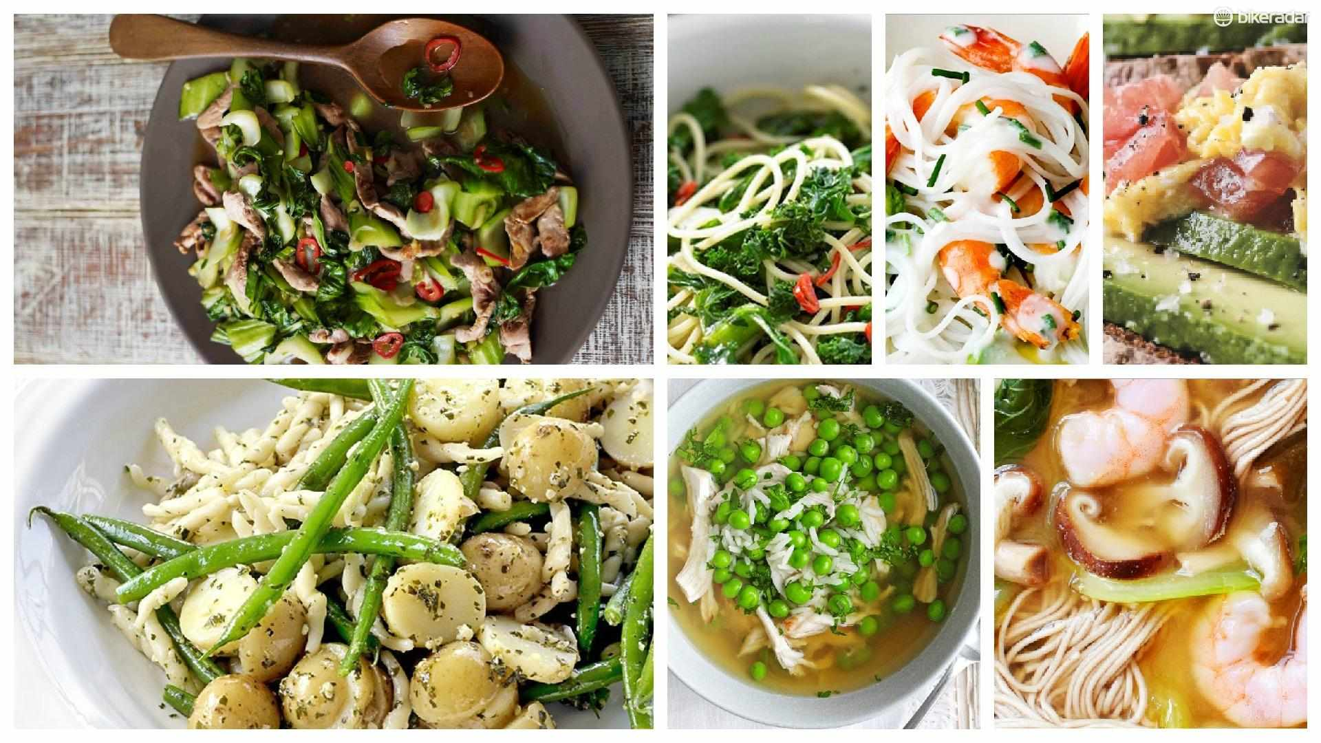 Quick and easy meals, ready in 15 minutes, and perfect for post-ride refuelling