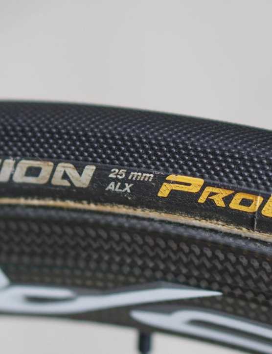 Continental is the dominant player in the pro peloton, and 25mm is the de facto width