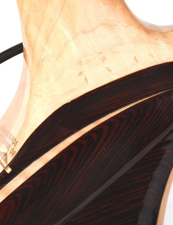 Renovo frames are built as two halves and pressed together with epoxy